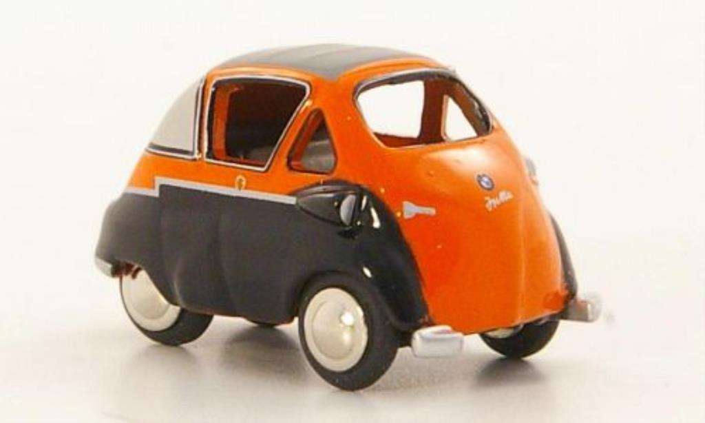 Bmw Isetta 1/87 Bub Standard orange/nero modellino in miniatura