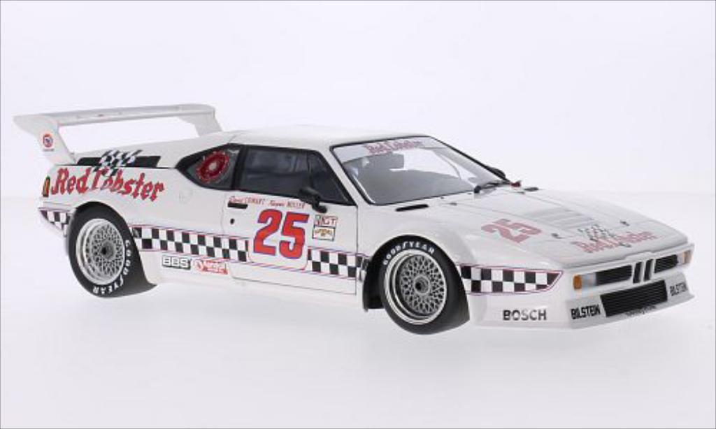 Bmw M1 1981 1/18 Minichamps No.25 Red Lobster Racing Team Red Lobster IMSA Riverside /K.Miller diecast model cars