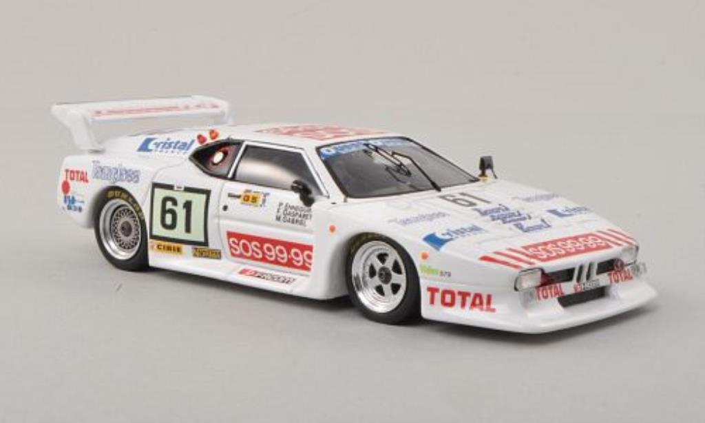 Bmw M1 1982 1/43 Spark No.61 24h Le Mans 1982 /F.Gasparetti diecast