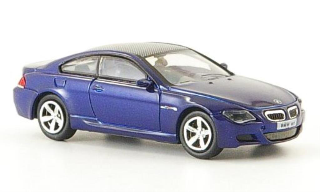 Bmw M6 E63 1/87 Ricko bleu 2006 diecast model cars