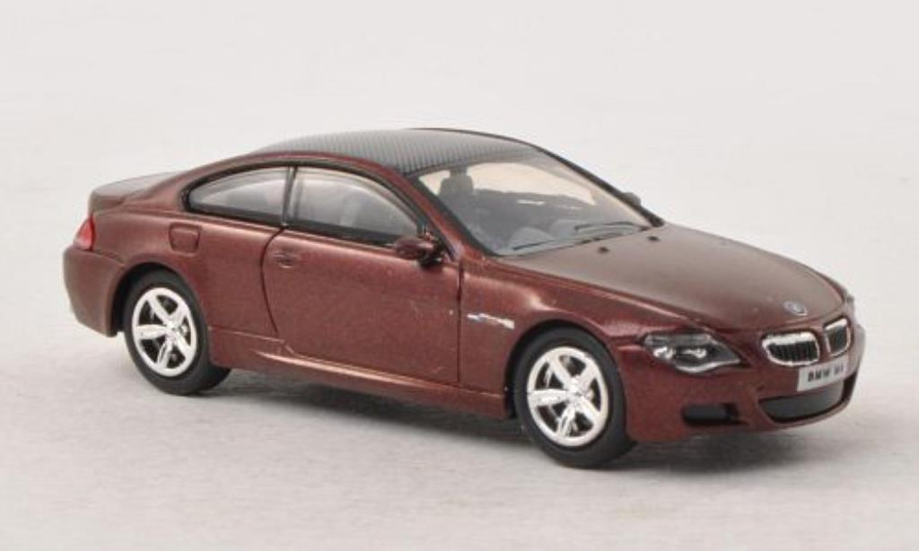 Bmw M6 E63 1/87 Busch red/carbon 2005 diecast