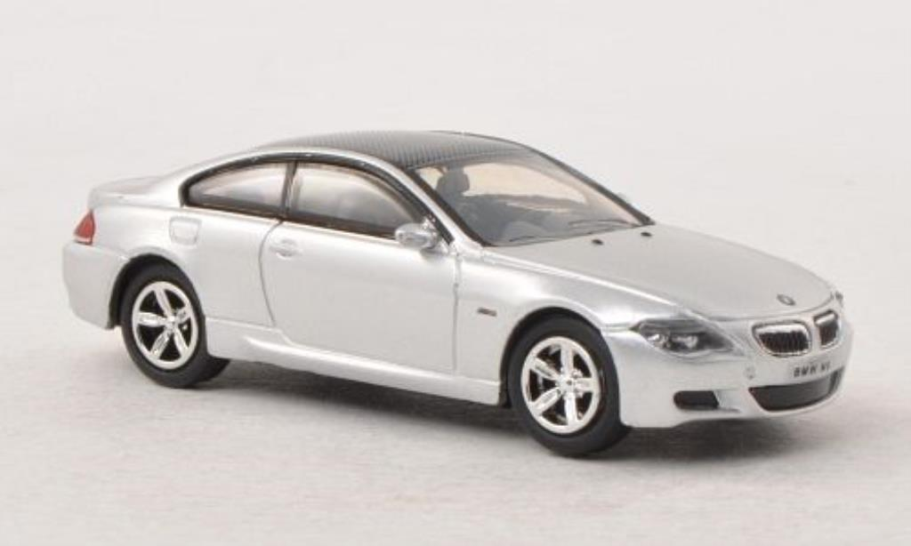 Bmw M6 E63 1/87 Busch grey/carbon 2005 diecast model cars