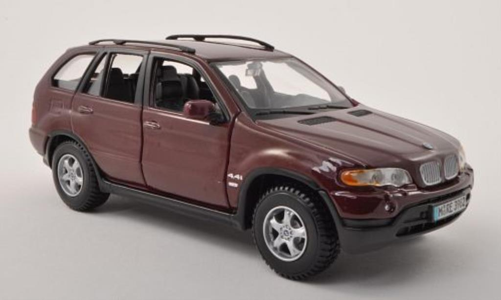Bmw X5 E53 1/24 Burago rouge miniature