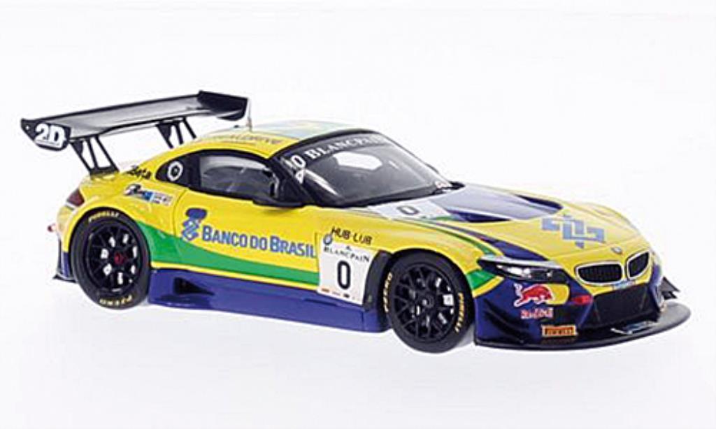 Bmw Z4 E89 1/43 Spark GT3 No.0 Team Brasil Blancpain 2014 /S.Jimenez miniature