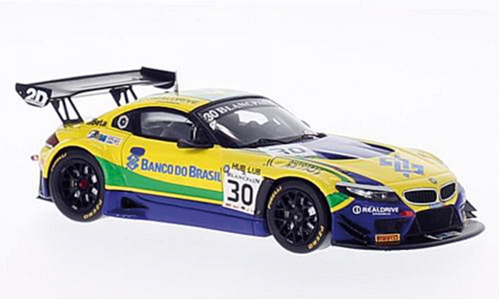 Bmw Z4 E89 1/43 Spark GT3 No.30 Team Brasil Blancpain 2014 miniature