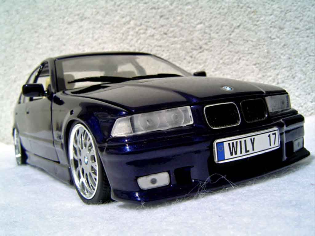 Bmw 325 E36 1/18 Ut Models berline tds kit m3 bleu metallized miniature