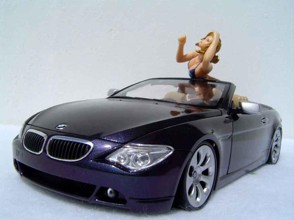 Bmw 645 E64 1/18 Welly ci cabriolet pneus tailles basses miniature