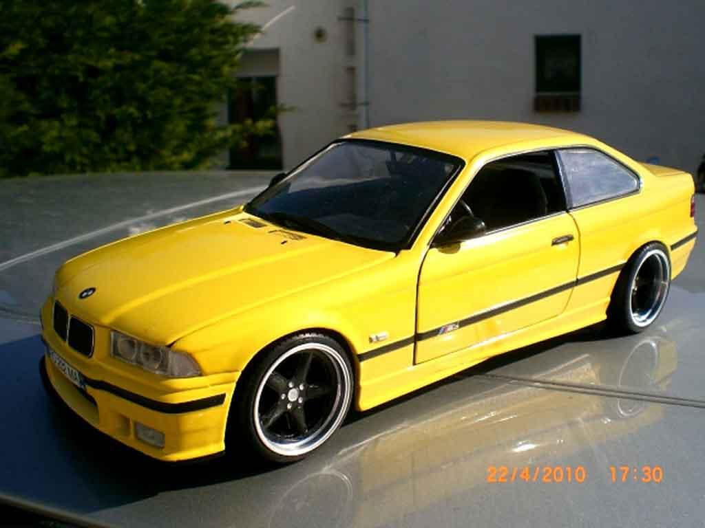 Bmw M3 E36 1/18 Ut Models jaune jantes ac schnitzer 18 pouces diecast