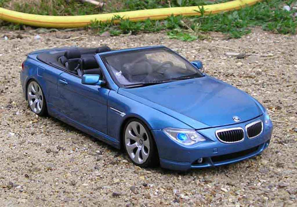 Bmw 645 E64 1/18 Welly ci cabriolet tuning miniature