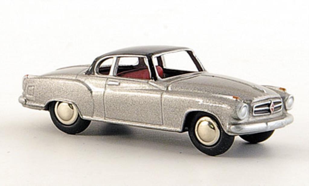 Borgward Isabella 1/87 Bub Coupe grise/noire miniature