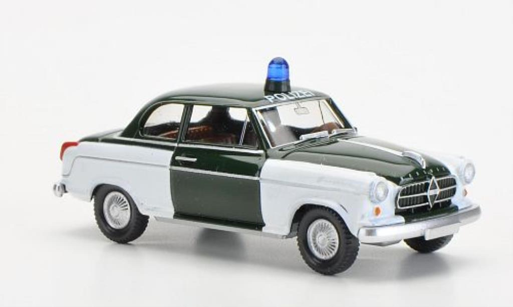 Borgward Isabella 1/87 Wiking Polizei verte/blanche miniature