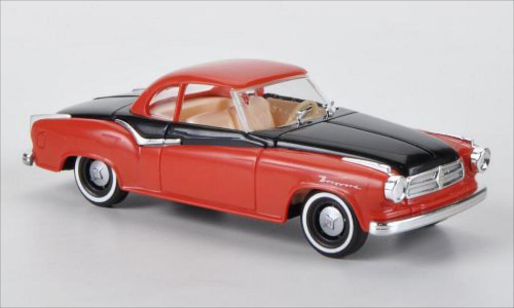 Borgward Isabella 1/87 Busch rouge/noire 1958 miniature