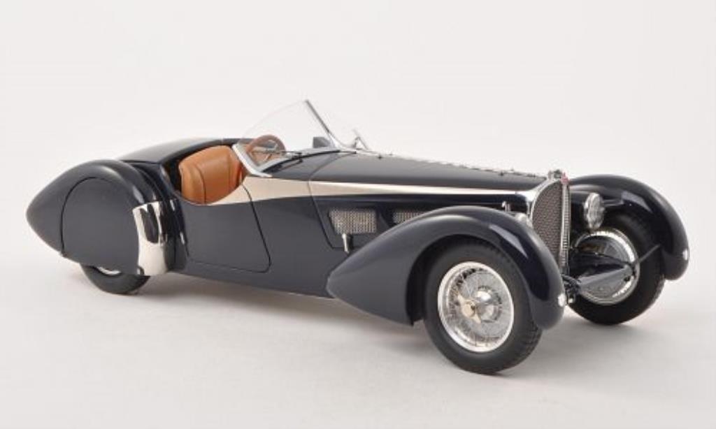 Bugatti 57 SC 1/18 CMC SC Corsica Roadster bleu 1938 miniature