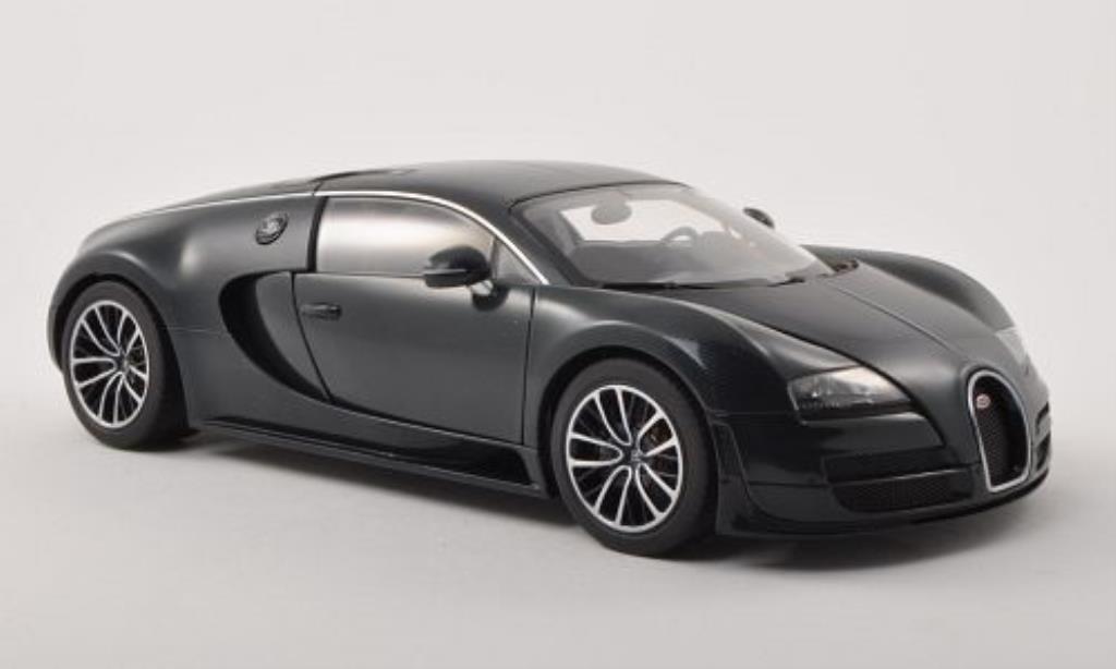 Bugatti Veyron 16.4 1/18 Autoart Super Sport carbon-bleu 2010 miniature