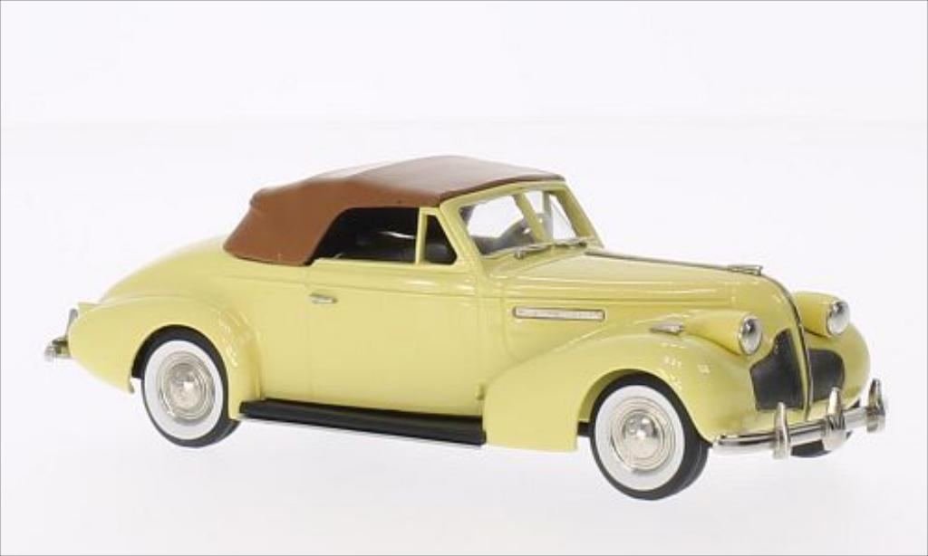 Buick Century 1/43 Brooklin Convertible Coupe M66-C jaune/marron 1939 miniature