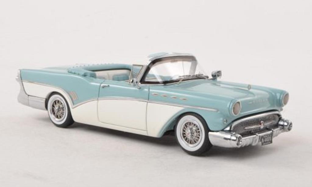Buick Roadmaster 1/43 Neo Convertible bleu-grise/blanche 1957 miniature