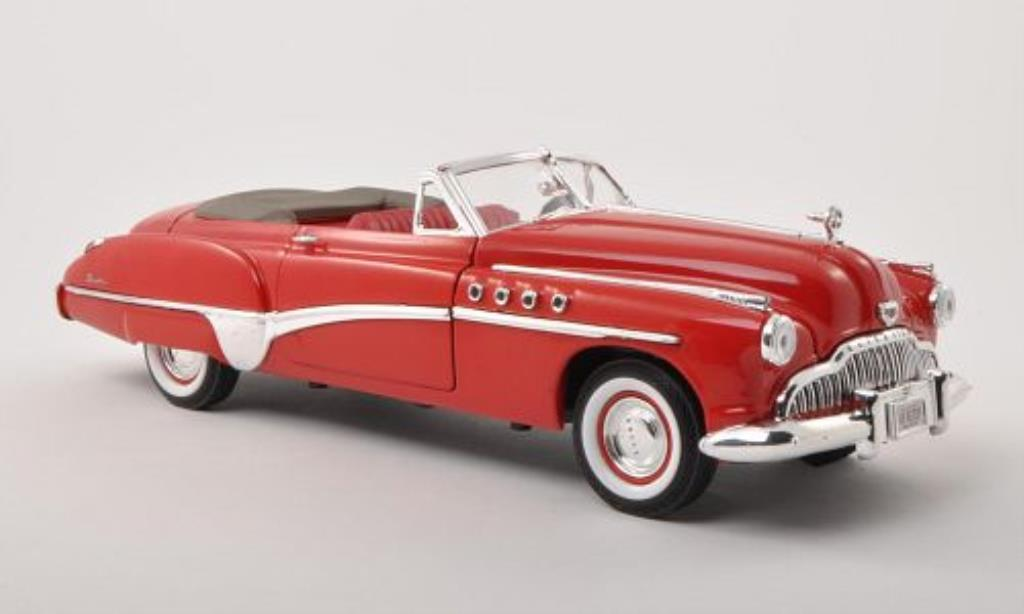 Buick Roadmaster 1/18 Motormax Convertible rouge 1949 miniature