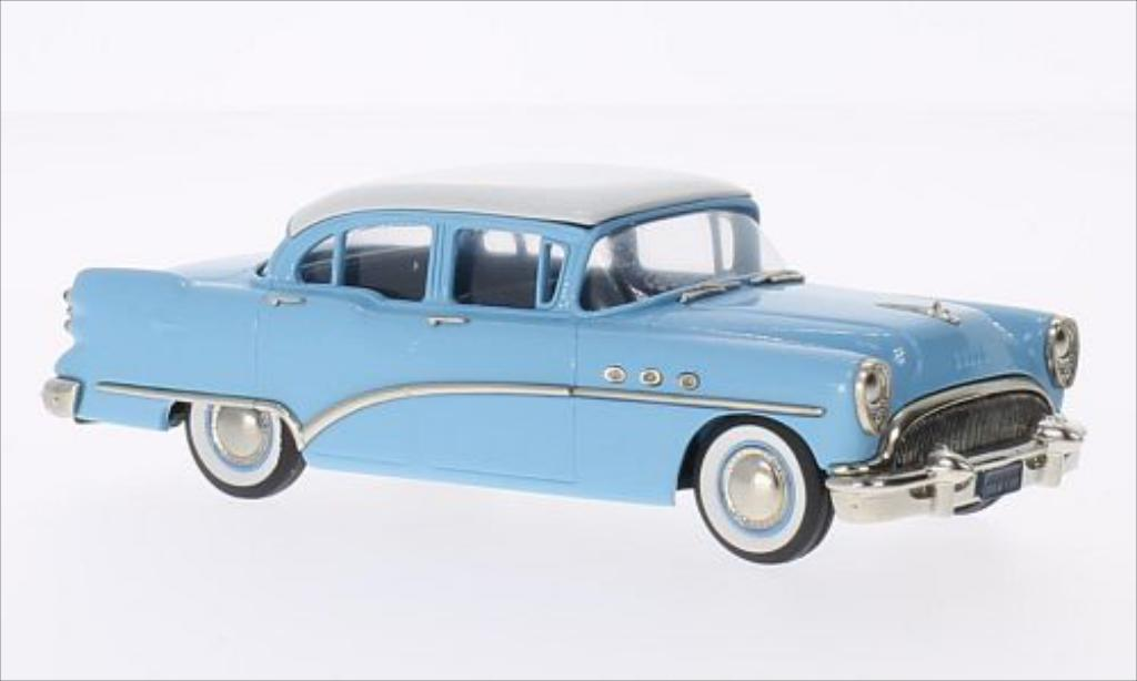 Buick Special 1/43 Brooklin Sedan bleu/blanche 1954 miniature