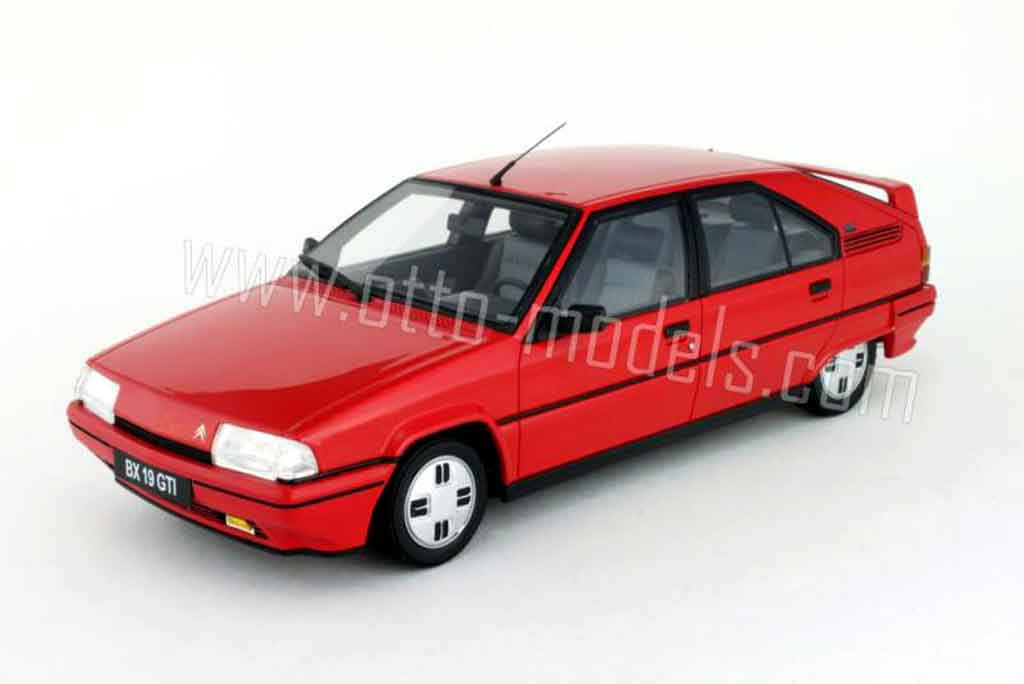 Citroen BX 1/18 Ottomobile 19 gti rouge miniature