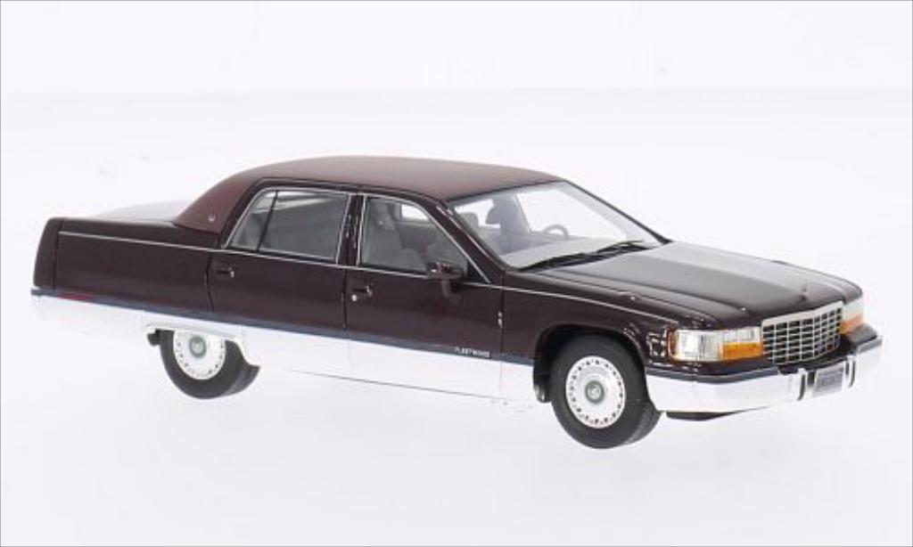 Cadillac Fleetwood Brougham 1/43 Neo metallic-rouge 1994 miniature