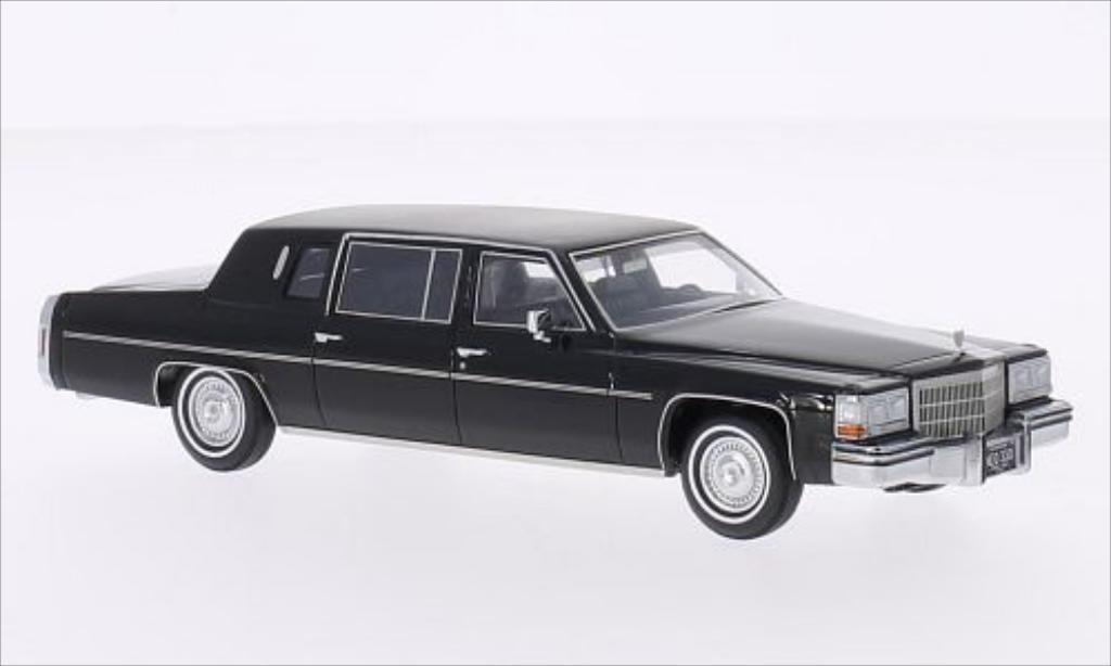 Cadillac Fleetwood 1/43 Neo Formal Limousine black/matt-black 1980 diecast model cars