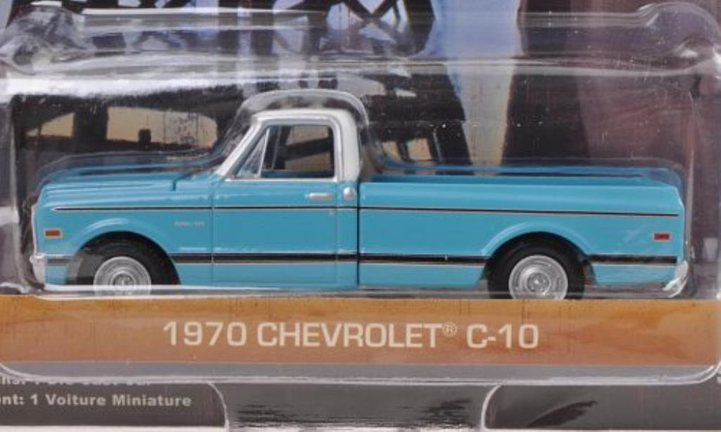 Chevrolet C-10 1/64 Greenlight bleu/white Dallas - The TV Series 1970 diecast model cars