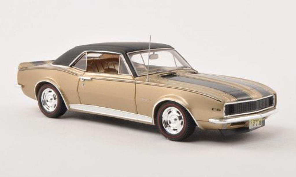 Chevrolet Camaro Z28 1/43 Spark gold/black/matt-black 1967 diecast model cars