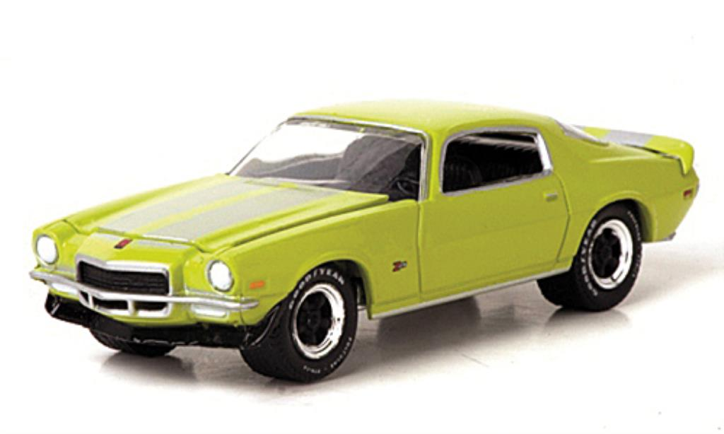 Chevrolet Camaro Z28 1/64 Greenlight grun/grise 1972 miniature