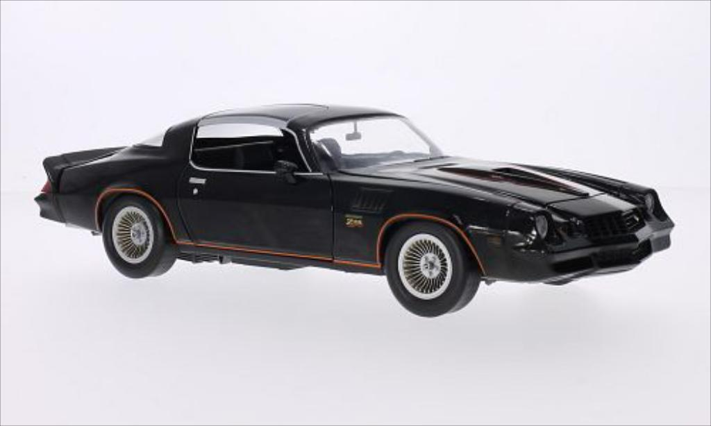 Chevrolet Camaro Z28 1/18 Greenlight noire/orange 1978 miniature