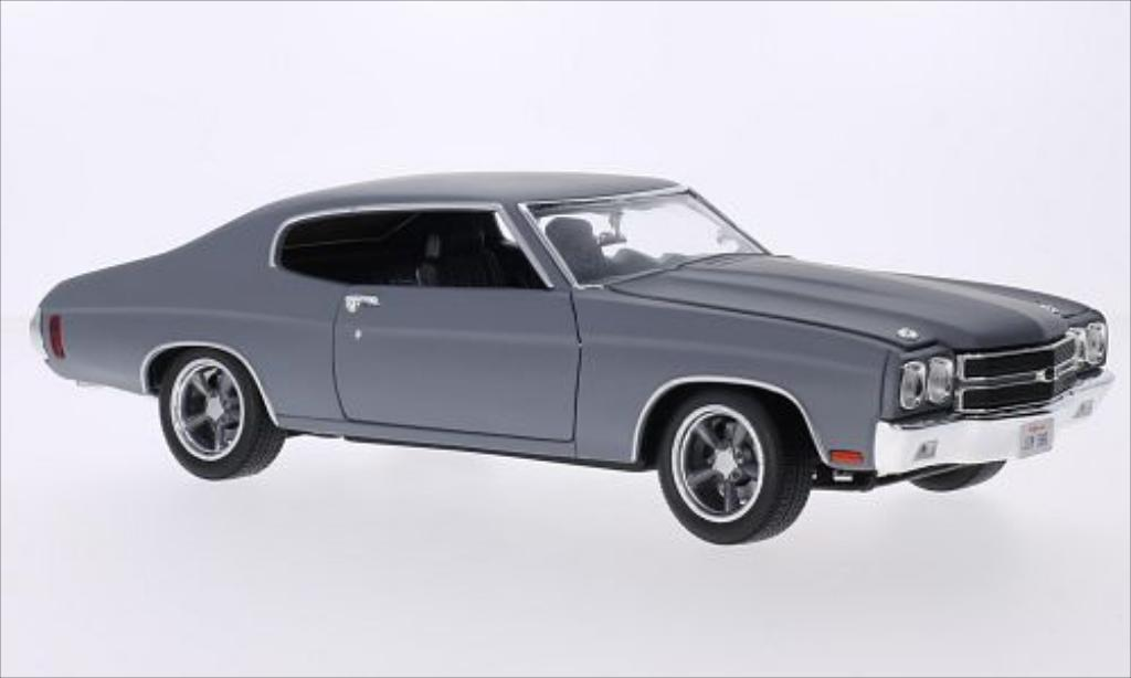Chevrolet Chevelle 1/18 Greenlight SS matt-grise 1970 miniature