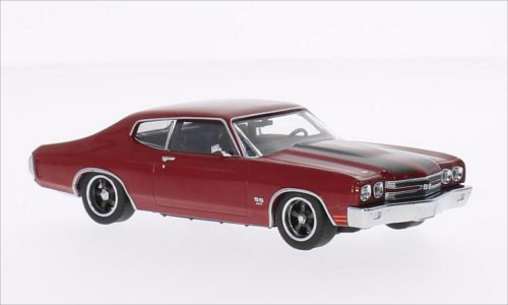 Chevrolet Chevelle 1/43 Greenlight SS rouge/noire 1970 miniature