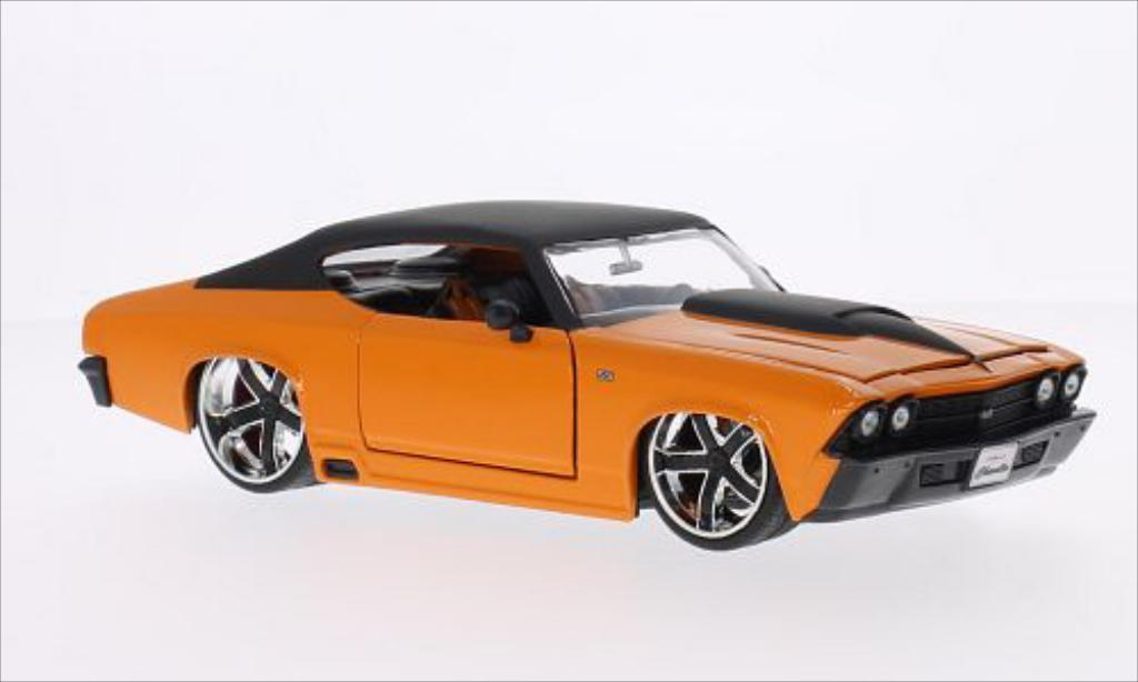 Chevrolet Chevelle 1/24 Jada Toys Toys SS Tuning naranja/matt-negro 1969 coche miniatura