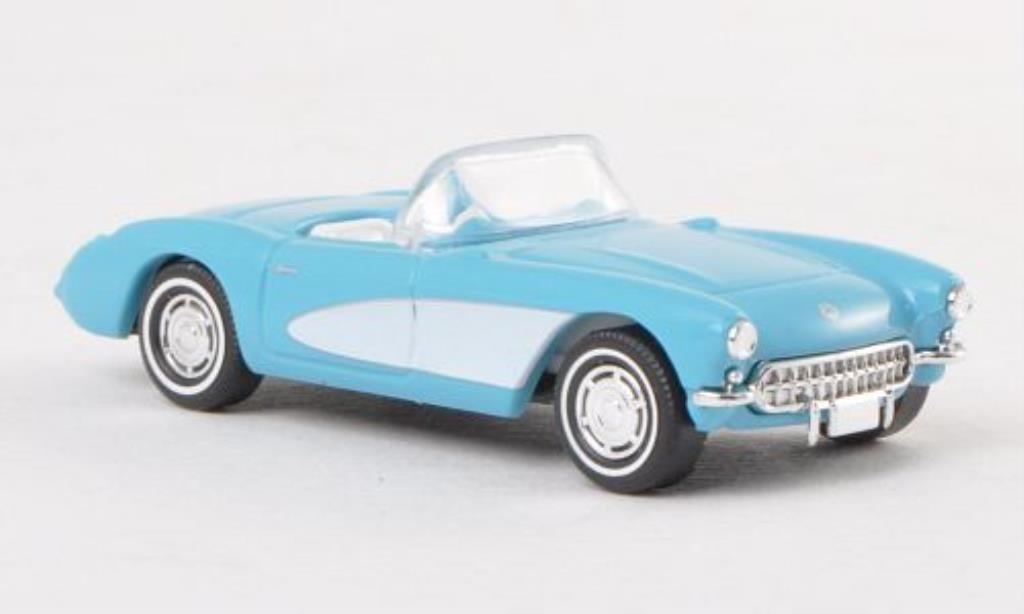 Chevrolet Corvette C1 1/87 Busch Convertible bleu/white 1956 diecast model cars