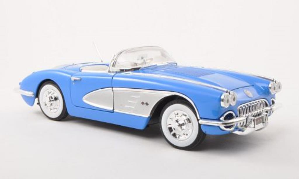 Chevrolet Corvette C1 1/18 Motormax bleu/grey 1958 diecast model cars
