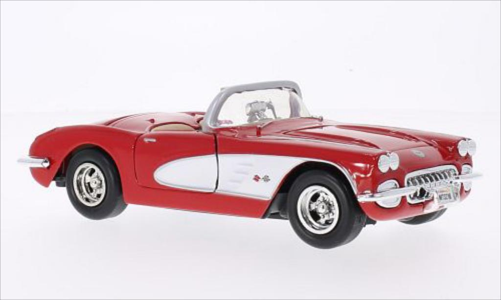 Chevrolet Corvette C1 1/24 Motormax  red/white 1959 diecast model cars
