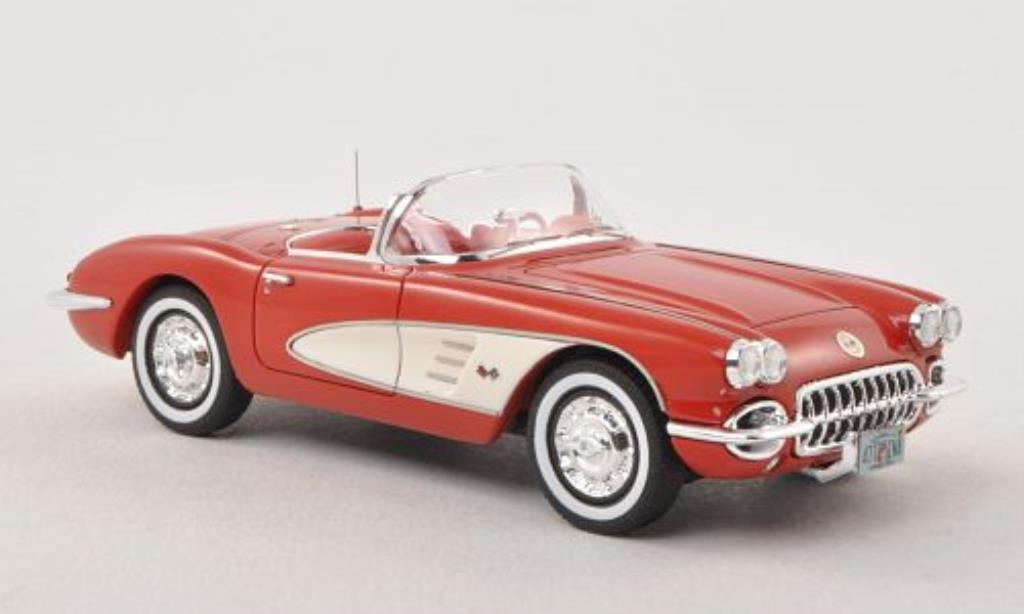 Chevrolet Corvette C1 1/43 Neo  red/white 1959 diecast model cars