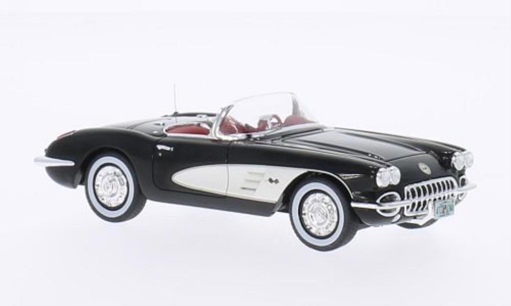 Chevrolet Corvette C1 1/43 Neo schwarz/weiss 1959 modellautos