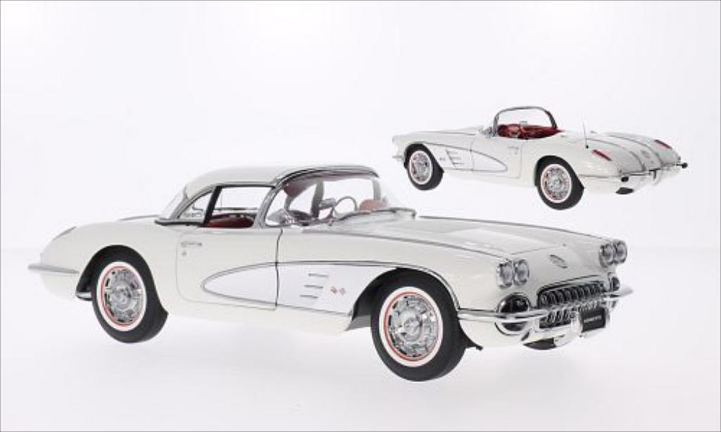 Chevrolet Corvette C1 1/18 Autoart  white/grey 1958 diecast model cars