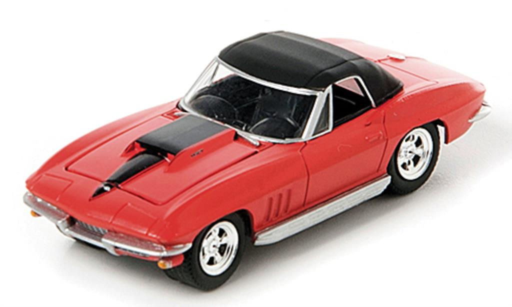 Chevrolet Corvette C2 1/64 Greenlight  Convertible rouge/noire 1967 miniature
