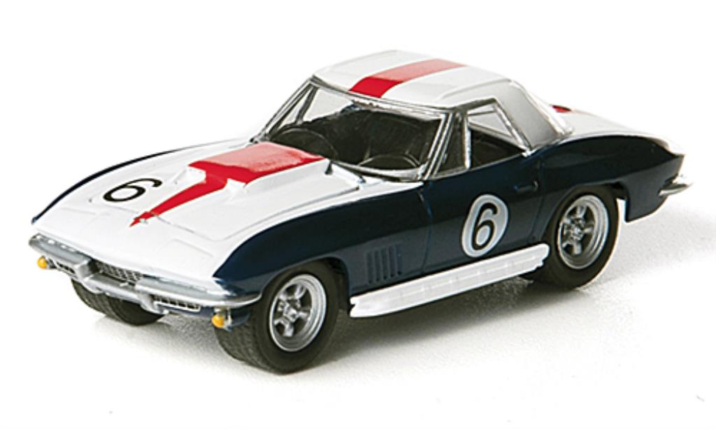 Chevrolet Corvette C2 1/64 Greenlight No.6 B.Bondurant / D.Guldstrand 1967 miniature