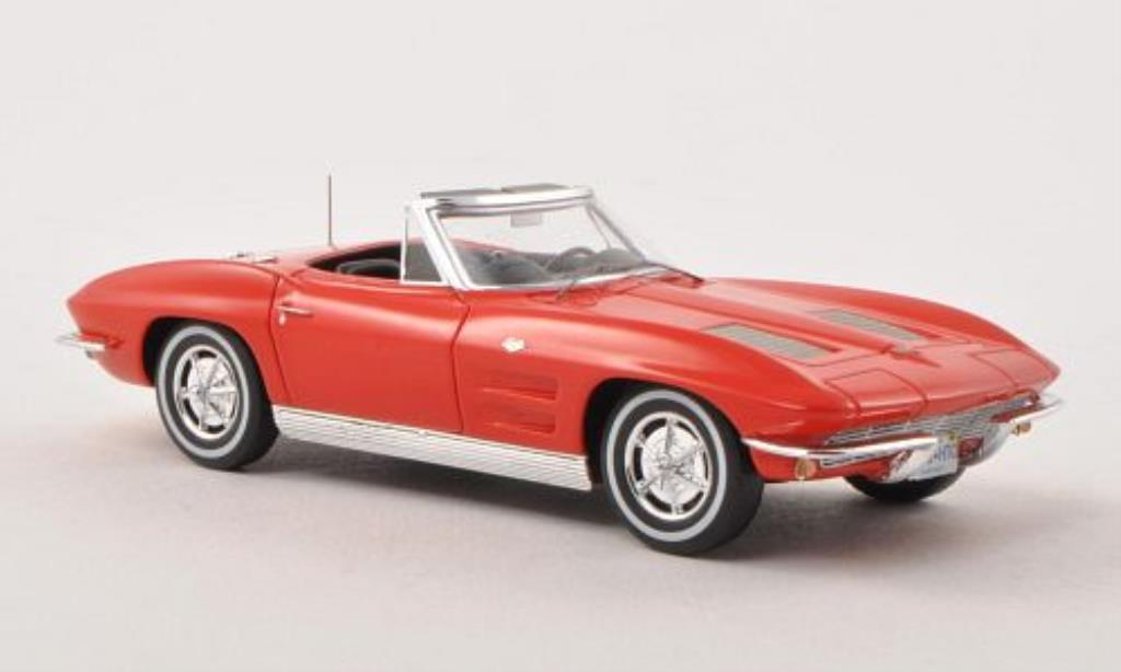 Chevrolet Corvette C2 1/43 Spark Sting Ray Convertible rouge 1963 miniature