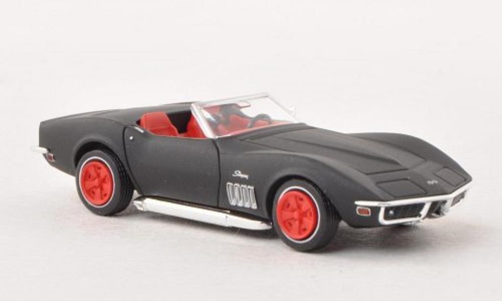 Chevrolet Corvette C3 1/87 Brekina  Cabriolet matt-black diecast