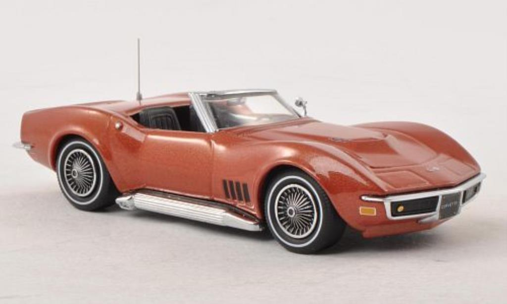 Chevrolet Corvette C3 1/43 Vitesse Convertible bronze 1968 diecast model cars