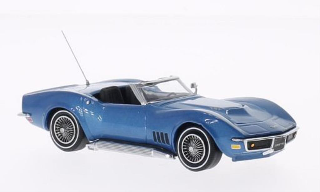 Chevrolet Corvette C3 1/43 Vitesse Convertible bleu 1968 diecast model cars