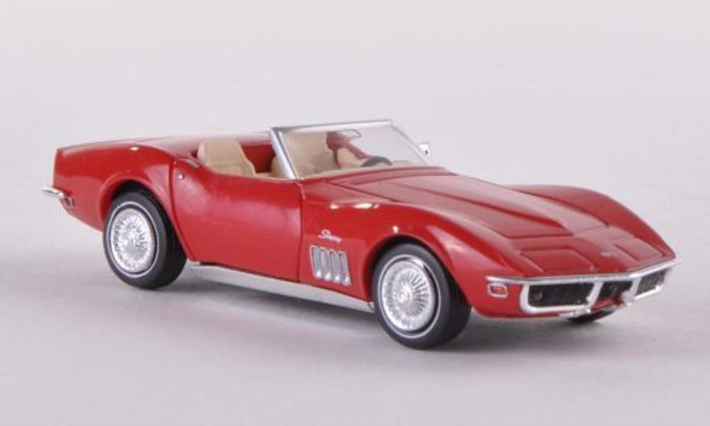 Chevrolet Corvette C3 1/87 Brekina C3 Convertible red diecast model cars