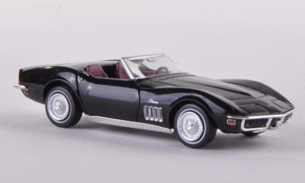 Chevrolet Corvette C3 1/87 Brekina C3 Convertible black diecast model cars