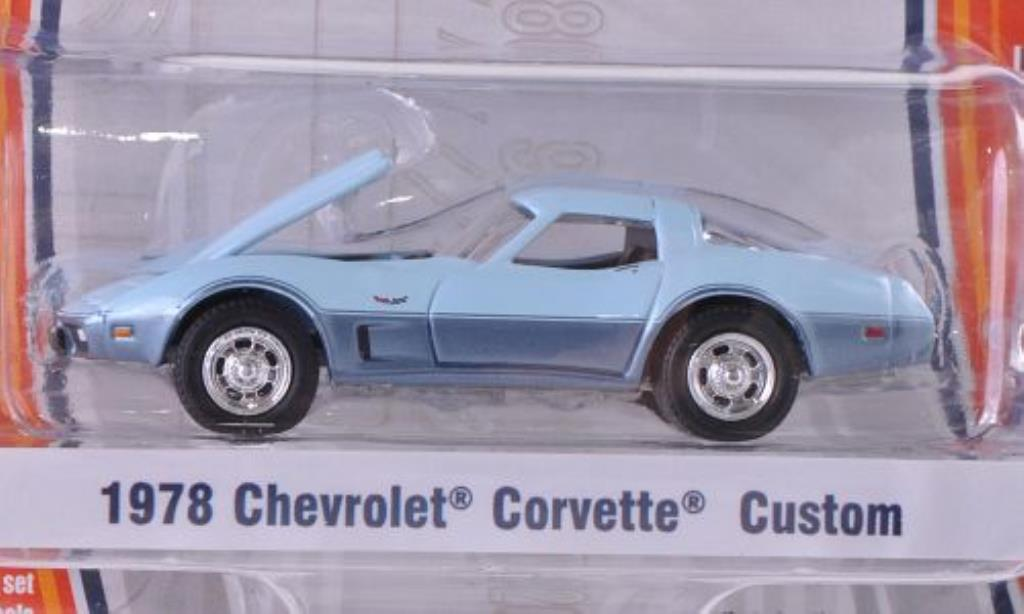 Chevrolet Corvette C3 1/64 Greenlight  bleu/gray 1978