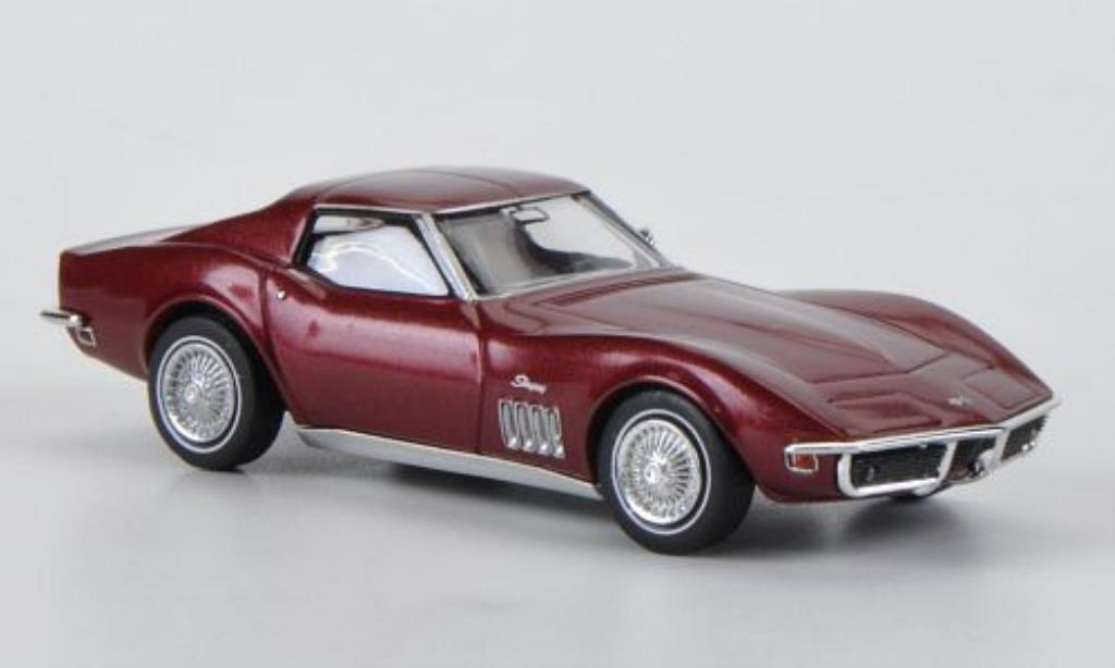 Chevrolet Corvette C3 1/87 Brekina C3 red diecast model cars