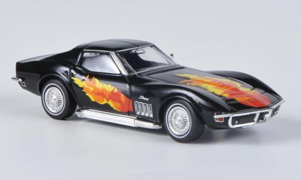 Chevrolet Corvette C3 1/87 Brekina  black mit Flammendekor und Sidepipes diecast