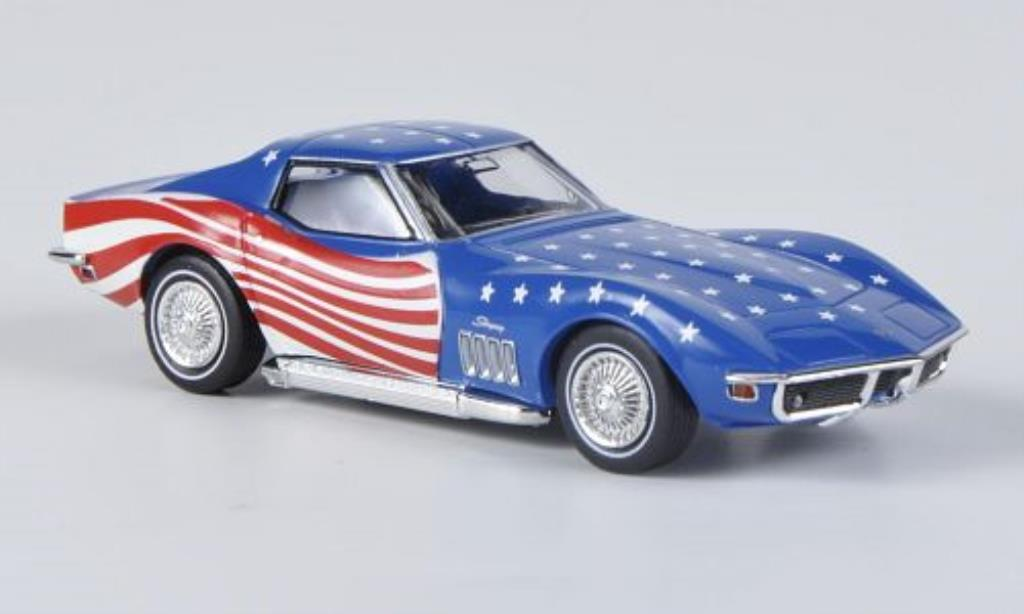 Chevrolet Corvette C3 1/87 Brekina C3 Stars & Stripes mit Sidepipes diecast model cars